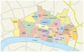 Map Of London England city of london map world map