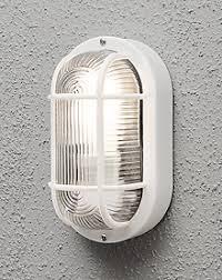 utility outdoor oval white bulkhead light