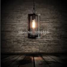 Vintage Kitchen Pendant Lights by Modern Vintage Industrial Black Metal Mesh Cage Kitchen Pendant