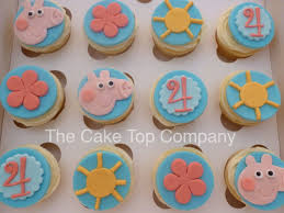 peppa pig cupcakes birthday peppa pig fondant cupcake toppers handmade to order uk