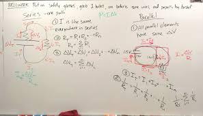 Parallel Circuit Problems Worksheet Volkening U0027s Physics Classes April 2016