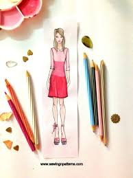 how to draw fashion sketches with free fashion design templates by