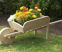Wooden Wheelbarrow Planter by Buildeazy 5 Downloadable Woodworking Plans Page 5