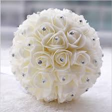 bridal bouquet beautiful white ivory bridal bridesmaid flower wedding bouquet