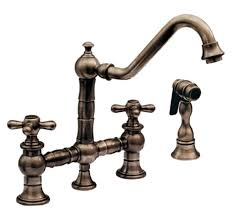 antique bronze kitchen faucets whitehaus whkbtcr39201orb vintage iii kitchen faucet two cross