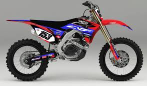 honda cdr bike honda u0027fragment u0027 kit rival ink design co custom motocross graphics