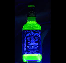 jack daniels glowing bottle blacklight reactive neon great with
