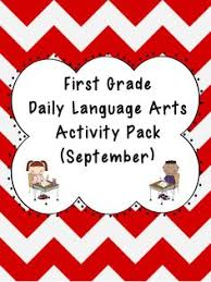 1st grade language arts worksheet pack november common core