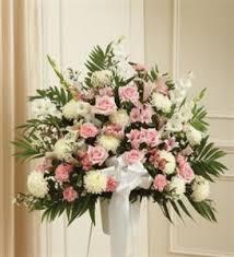 sympathy basket pink white sympathy standing basket funeral in crestview fl