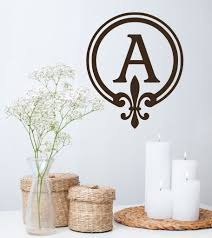 monogram wall decal personalized initial by decor designs decals fa