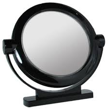 Vanity Stand Mirror 5x 1x Magnification Large Black Stand Mirror Vanity 8