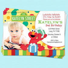 Birthday Invitations Card Sesame Street Birthday Invitations Kawaiitheo Com
