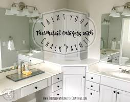 can thermofoil kitchen cabinets be painted update your thermofoil cabinets with chalk paint for a whole