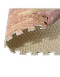 tappeti ad incastro homcom tappeto puzzle ad incastro effetto legno in schiuma 60 x 60