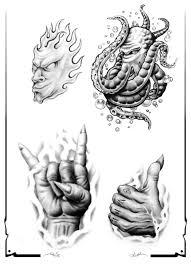 skull tattoo images free skull adn demon tattoo design img527 skulls demons flash tatto