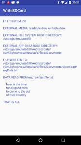 android file system accessing the file system