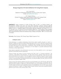 K Hendesign Energy Integration Of Crude Distillation Unit Using Pinch Analysis