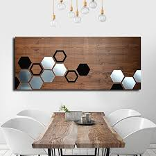 mod honeycomb by modwoodart wood wall metal