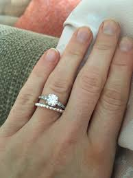 stackable engagement rings wedding rings engagement wedding ring gap stackable wedding