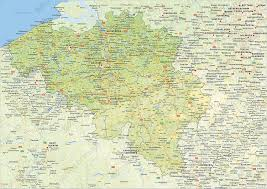 physical map of belgium digital physical map of belgium 1425 the world of maps