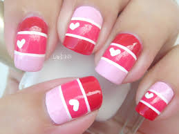 nail art valentine color blocking decoracion de uñas youtube
