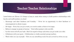 11 Things I Refuse To Developing Positive Relationships With Parents Students And Other Te