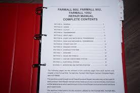 case farmall 95u 105u 115u tractor service workshop repair manual