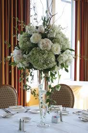 Cheap Vase Centerpieces Wisteria In A Wedding Centerpiece Arrangement Tall Wedding
