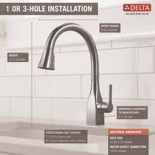 delta faucet 9183 dst mateo polished chrome pullout spray kitchen