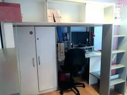 lit mezzanine combiné bureau lit mezzanine avec armoire et bureau lit mezzanine armoire bureau