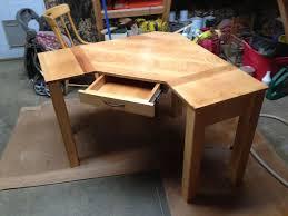 Corner Desk Solid Wood Hand Crafted Custom Corner Desk By Black Swamp Furnishings