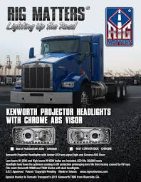 truck hub kenworth trucks kenworth projector headlights u2013 rig matters inc