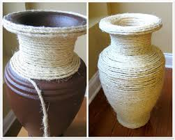 diy sisal covered vase crafts crafting and home