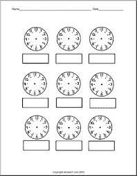 telling time blank clip art abcteach