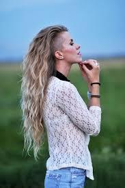 Frisuren Lange Wei゚e Haare by 50 Ideen Für Undercut Frauen Zum Entlehnen Und Nachmachen