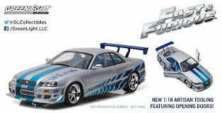 nissan skyline fast and furious 1 1 18 artisan collection u2013 greenlight