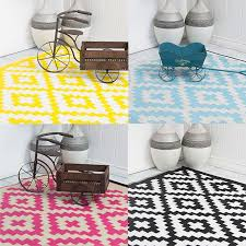 Outdoor Plastic Rugs Pixel Outdoor Rug In Aqua White Cool Plastic Patterned Mat