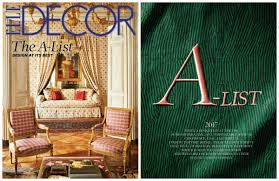 Best Interior Designers In The World by Interior Design Magazines Elle Decor A List 2017 Meet The Best