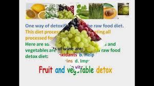 fruit and vegetable detox diet youtube