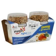 yoplait light yogurt ingredients yoplait light peach yogurt with nature valley granola 2 ct shop