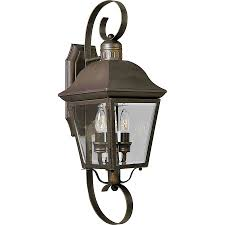 shop progress lighting andover 21 25 in h antique bronze outdoor