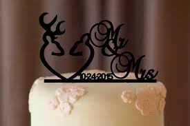 country wedding cake topper deer wedding cake topper country wedding cake topper rustic
