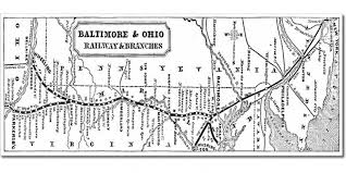 map us railroads 1860 baltimore and ohio railroad railway trains and railways info