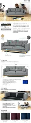 canapé convertible droit 3 places articles with canape 3 places convertible ikea ektorp tag canape 3