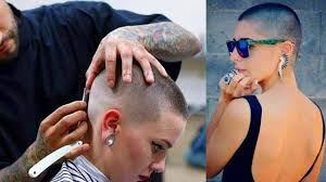 womens buzzed and bold haircuts new headshave women bald 2018 shaving head bald women balding
