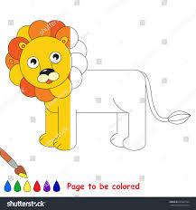 lion coloring book educate preschool kids stock vector 645301594