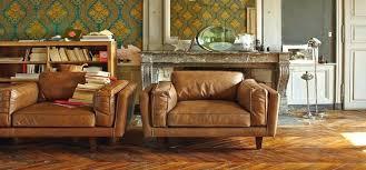 petit canapé cuir petit canape cuir un canapac esprit vintage et loft pour la dacco du