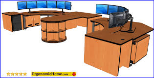 mission corner desk control room console command center furniture banana desk