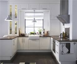 ikea adel medium brown kitchen contemporary with modern drawer
