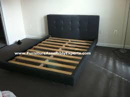 crate barrel tate queen bed assembled in arlington va by furniture